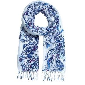 Lilly Pulitzer Printed Wave Pool Fringe Scarf